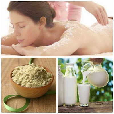 I DID WHITE BODY WITH RICE BRAN AND FRESH MILK