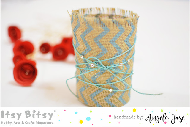 burlap ribbon, burlap ribbon craft, burlap ribbon ideas, burlap ribbon book mark, burlap ribbon gift wrap, burlap ribbon wrapped candle