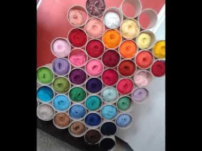Como organizar as lãs no atelier