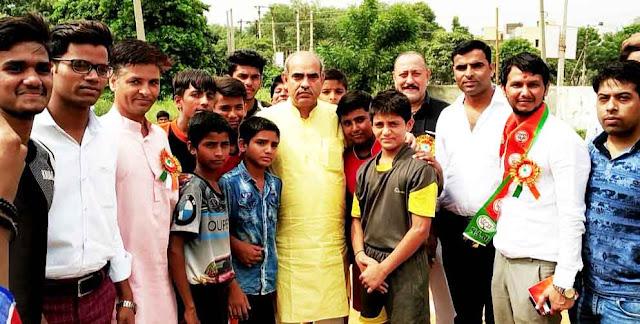 Organizing District Kabaddi Tournament by All India Human Welfare Trust