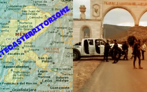 En Los Limites de San Luis Potosí enfrentamiento entre Cártel de Sinaloa vs Cártel de Jalisco y abandonan 7 cuerpos