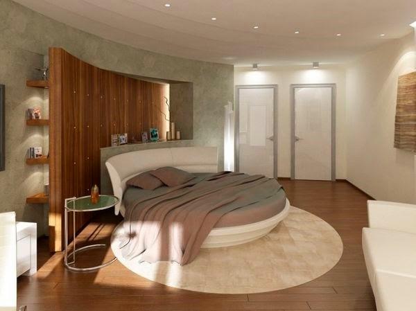 Cuarto con cama redonda