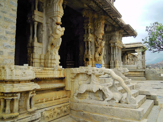 Entrance to the Maha Mantapa, at the Vittala Temple, Hampi