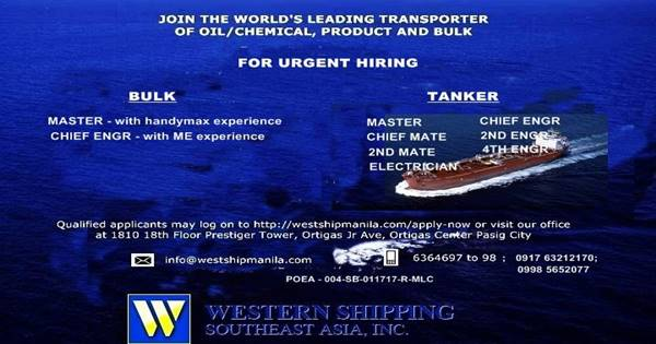 Bulk Carrier | Oil Tanker Ship Jobs | Seafarers - Seaman jobs