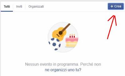 Come creare un evento su facebook