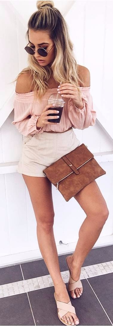 such a cute outfit: nude shades