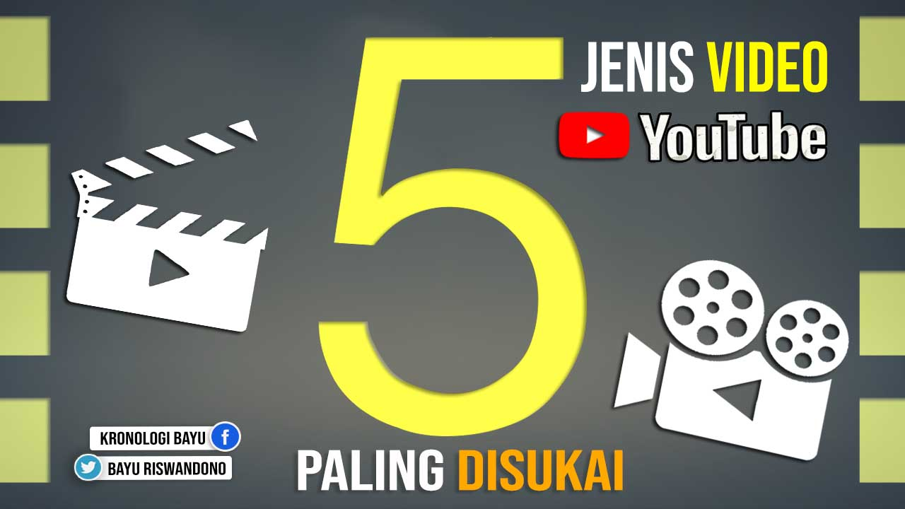 5 Jenis Video Youtube Paling Disukai Penonton