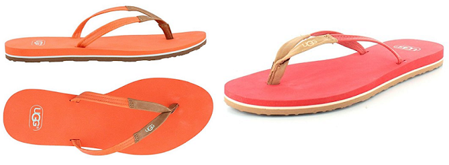 UGG Magnolia Flip Flops in orange or red for only $23 (reg $40)