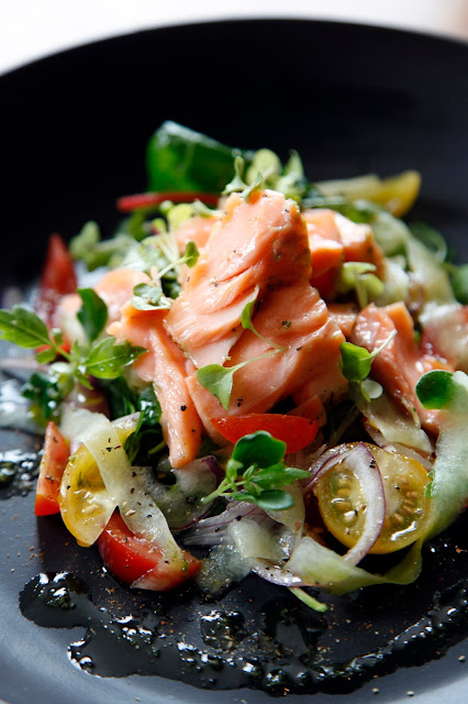 Salmon Confit salad recipe