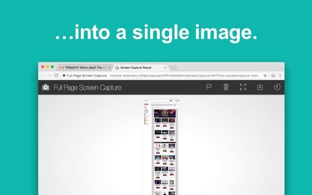 اضافة full page screen capture