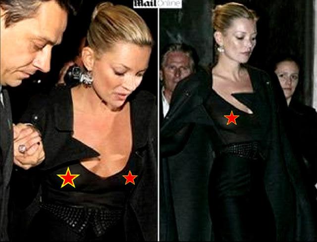 Kate Moss com roupa transparente (Imagem: Reprodução/Internet)