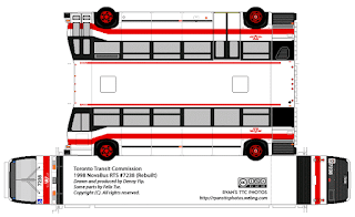 PaperCraft - PaperBus 1998 NovaBus RTS - Toronto Transit Commission