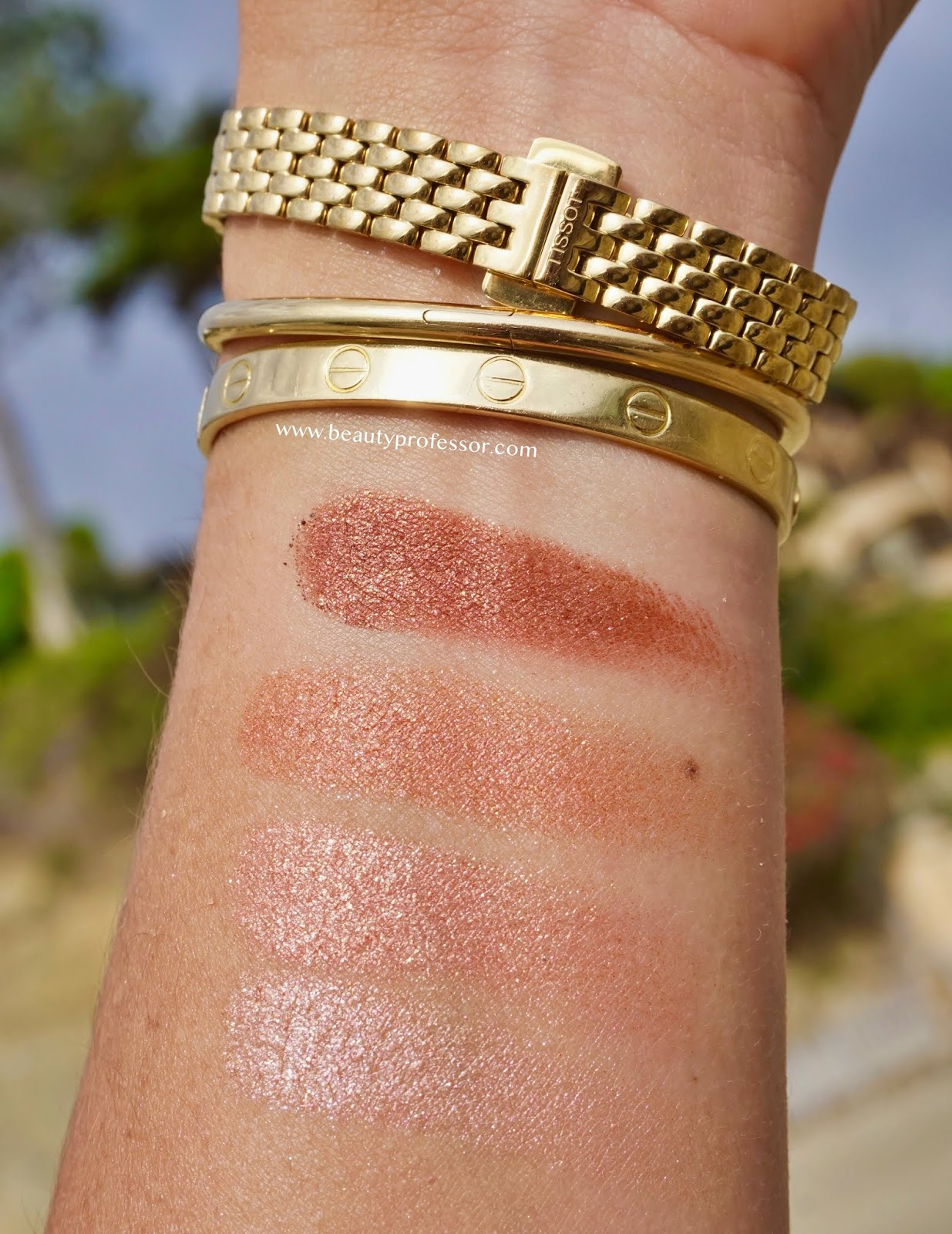 Charlotte Tilbury Luxury Pillow Talk Palette of Pops swatches