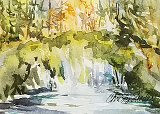Memory of Waterfalls Roadside © 2021 Christy Sheeler Artist