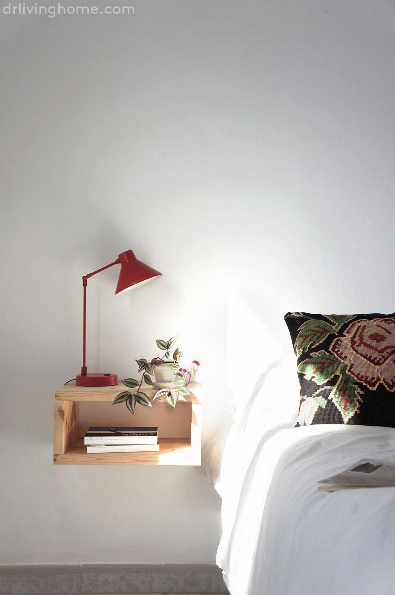 Diy mesilla de noche flotante blog decoraci n con tu estilo c mo decorar tu casa diy - Mesillas de noche ...