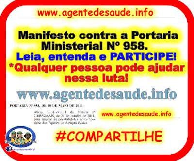 Manifesto%2Bcontra%2Ba%2BPortaria%2BMinisterial%2BN%25C2%25BA%2B958 Participe do Manifesto contra a Portaria Ministerial Nº 958.