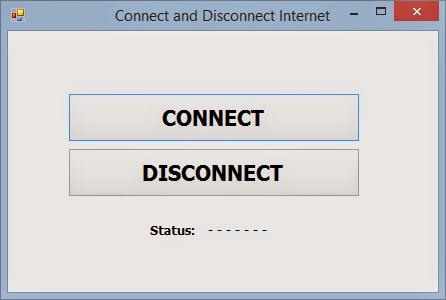 How to connect and disconnect internet using shell in VB Net - code4dev