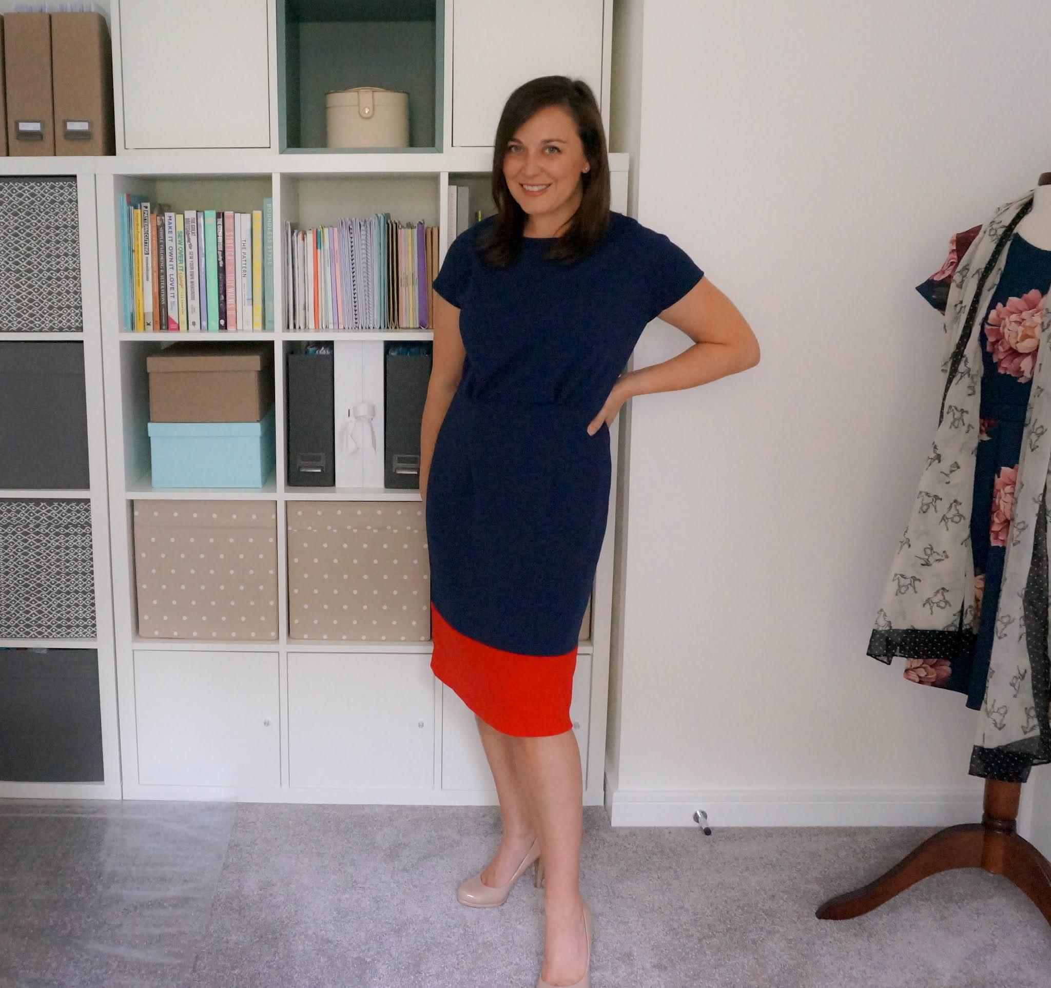 Colour block knit dress - Kwik Sew K4111