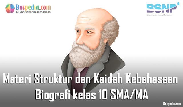 Materi Struktur dan Kaidah Kebahasaan Teks Biografi Mapel Bahasa Indonesia kelas 10 SMA/MA