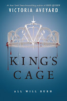 King's Cage by Victoria Aveyard book cover and review