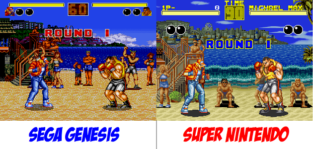 Batalla Campal Snes Vs Megadrive Patio De Colegio On En Retro Y