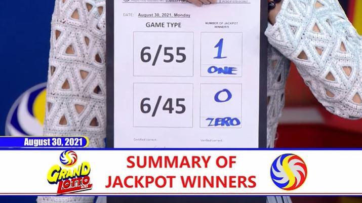 Bettor wins P120-M Grand Lotto jackpot