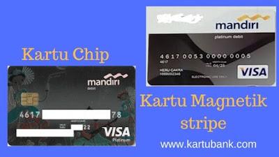 Beda Kartu Chip dan Magnetic Stripe Bank Mandiri