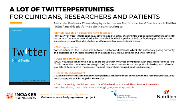 A LOT OF TWITTERPERTUNITIES FOR CLINICIANS, RESEARCHERS AND PATIENTS