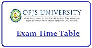 OPJS University Date Sheet 2021