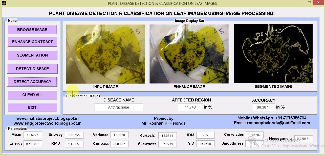 Plant Disease Detection & Classification on Leaf Images