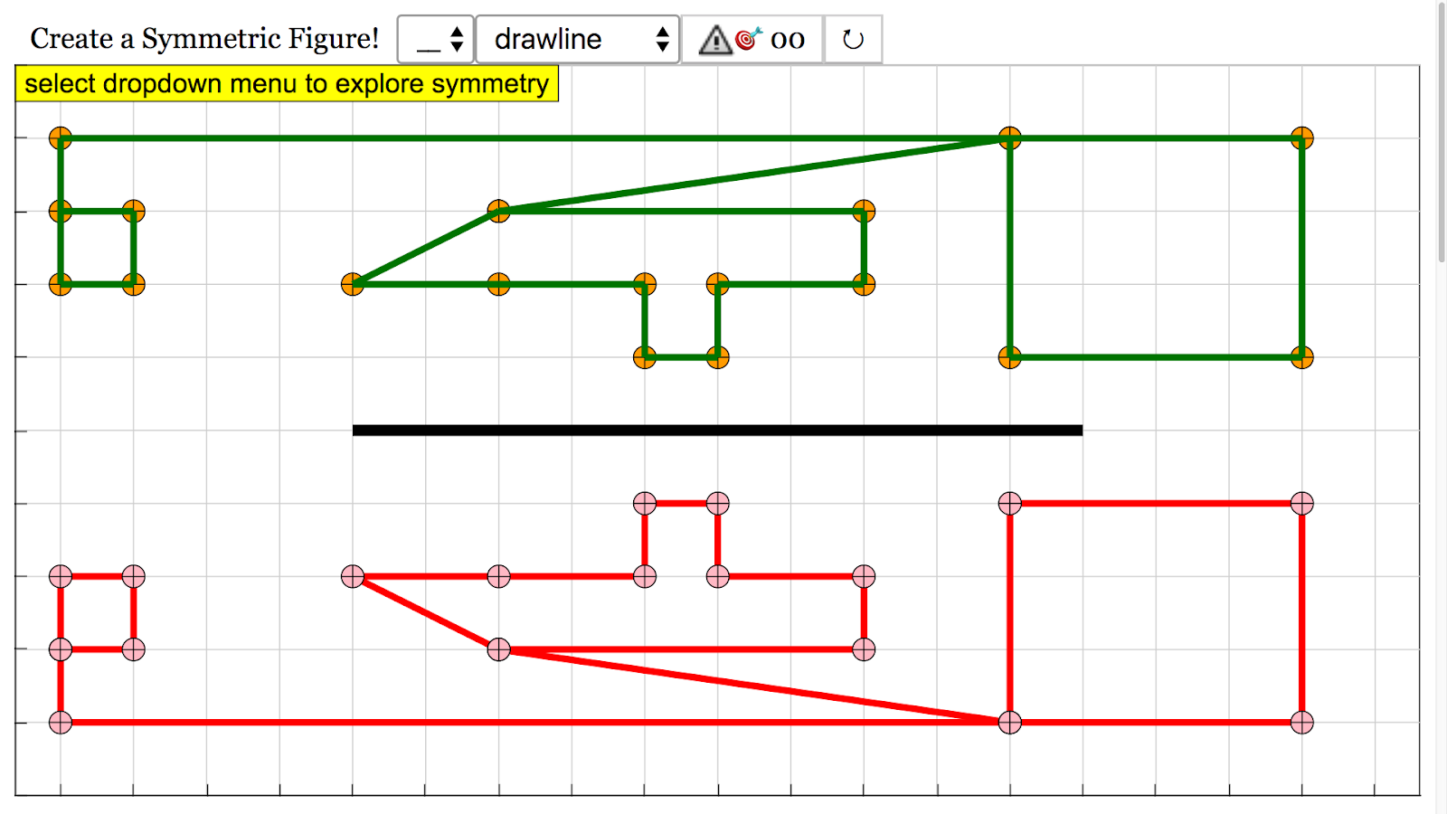 symmetry block and drawing javascript html5 applet simulation model [ 1600 x 900 Pixel ]