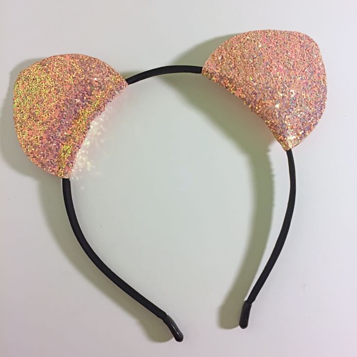 Walmart Halloween rosegold cat ears headband