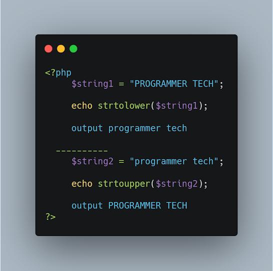 PHP STRTOLOWER