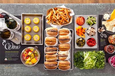 Resultado de imagem para mesa para montar  hamburguer