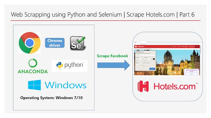 Web Scraping using Python and Selenium | Scrape Hotels.com | Part 6
