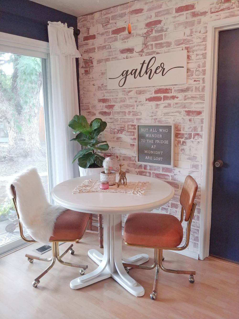 Vintage Dining Table Makeover Little Vintage Cottage