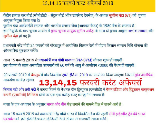 14 february current affairs 2019, 13 february current affairs 2019