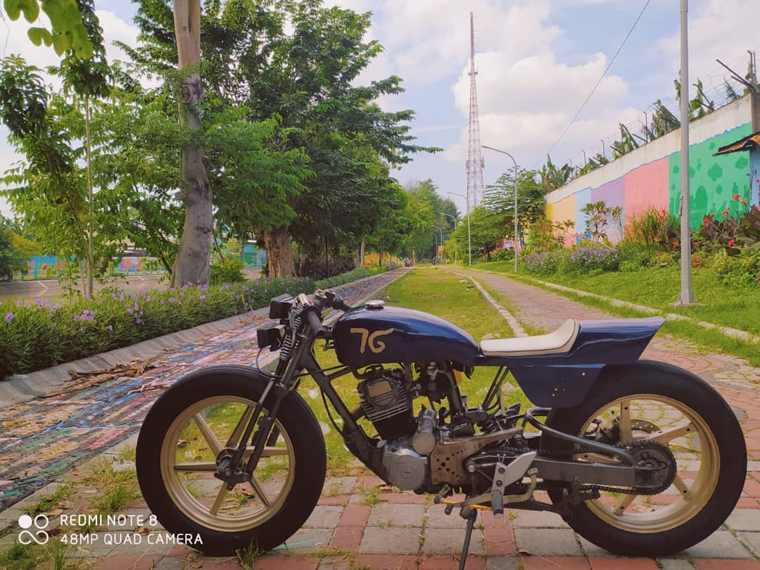 inspirasi modifikasi motor custom cafe racer