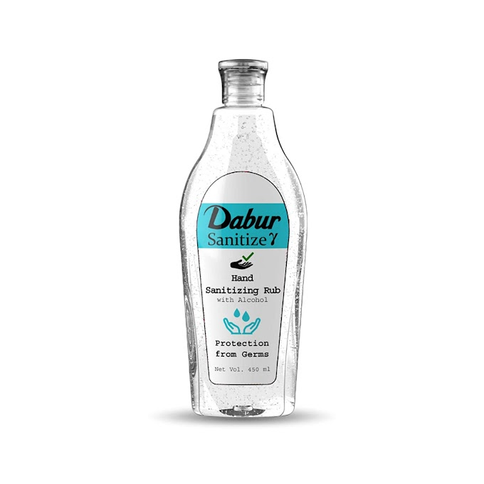 Dabur Sanitize γ - Hand Sanitizer | Alcohol Based Sanitizer - 450 ml