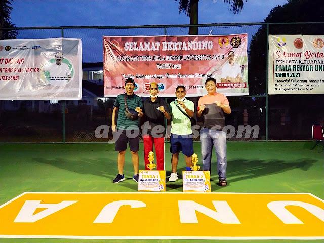 Kejuaraan Tenis Piala Rektor Universitas Jambi Tahun 2021 Usai dan Sukses Digelar