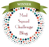 Mr. Random chose my World of Thanks card to win the Mod Squad Challenge!