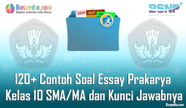 120+ Contoh Soal Essay Prakarya Kelas 10 SMA/MA dan Kunci Jawabnya Terbaru