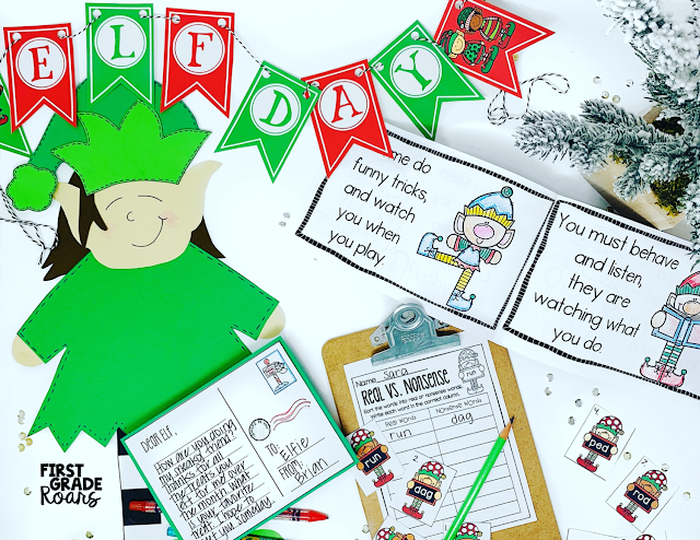 These 5 fun elf activities will bring your classroom to life the month of December. Students will work on spreading kindness when the elf visits the classroom. Elf literature suggestions are given for Pig the Elf and Memoirs of an Elf. Celebrate a fun elf theme day and work on elf centers and enjoy an elf snack. Don't forget to grab your elf freebie and work on adjectives the whole month of December. You will have a fun way to sort your students into groups too.