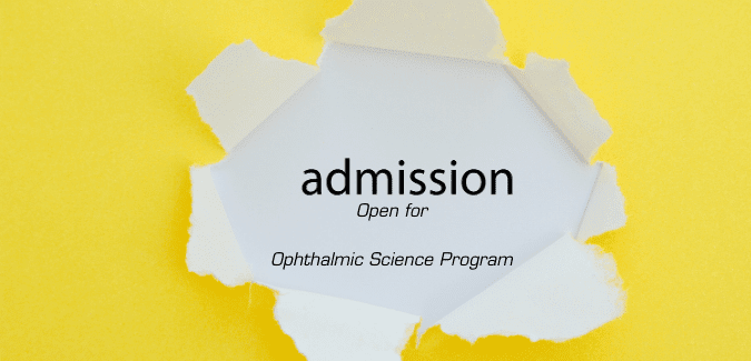 Admission Open - PCL Ophthalmic Science Program