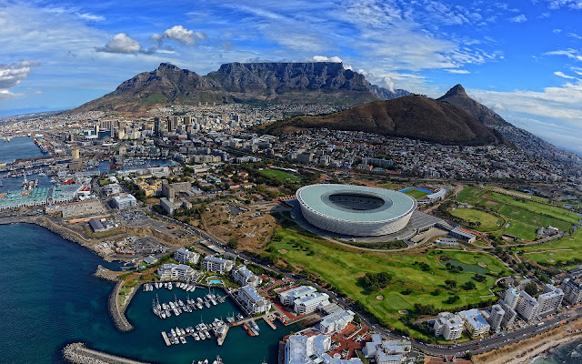 Cape Town Beautiful African City Panorama South Africa HD Desktop Wallpaper