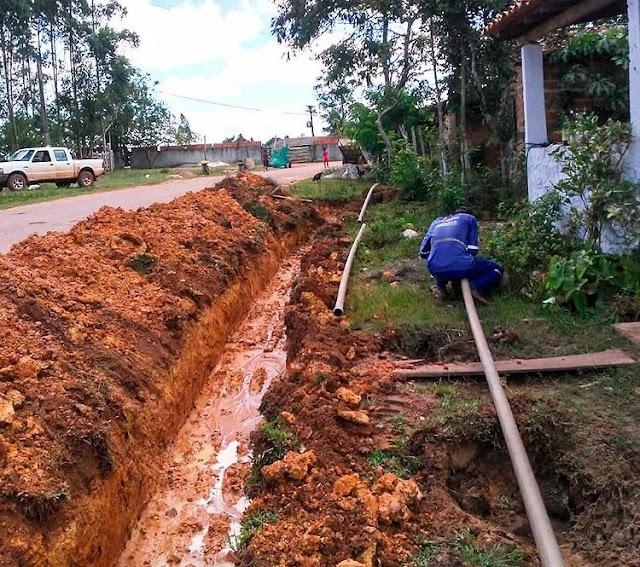 Prefeitura de Itanagra inicia obras de extensão da rede de água em Vila São José do Avena