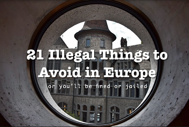 things to avoid in Europe