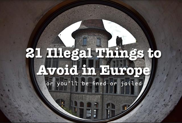things to avoid in Europe