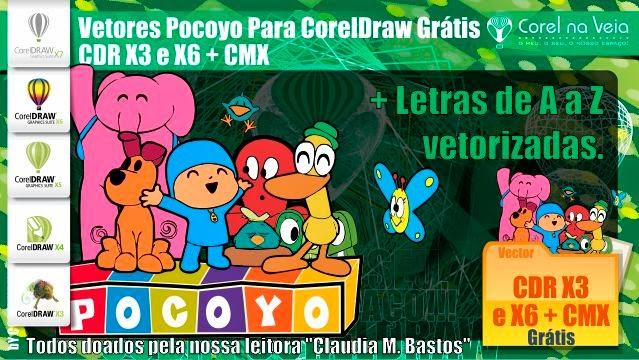 Vetores Pocoyo Para CorelDraw Grátis - CDR X3 e X6 + CMX