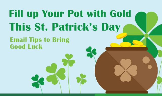 Good-Luck Email Tips for St. Patrick's Day